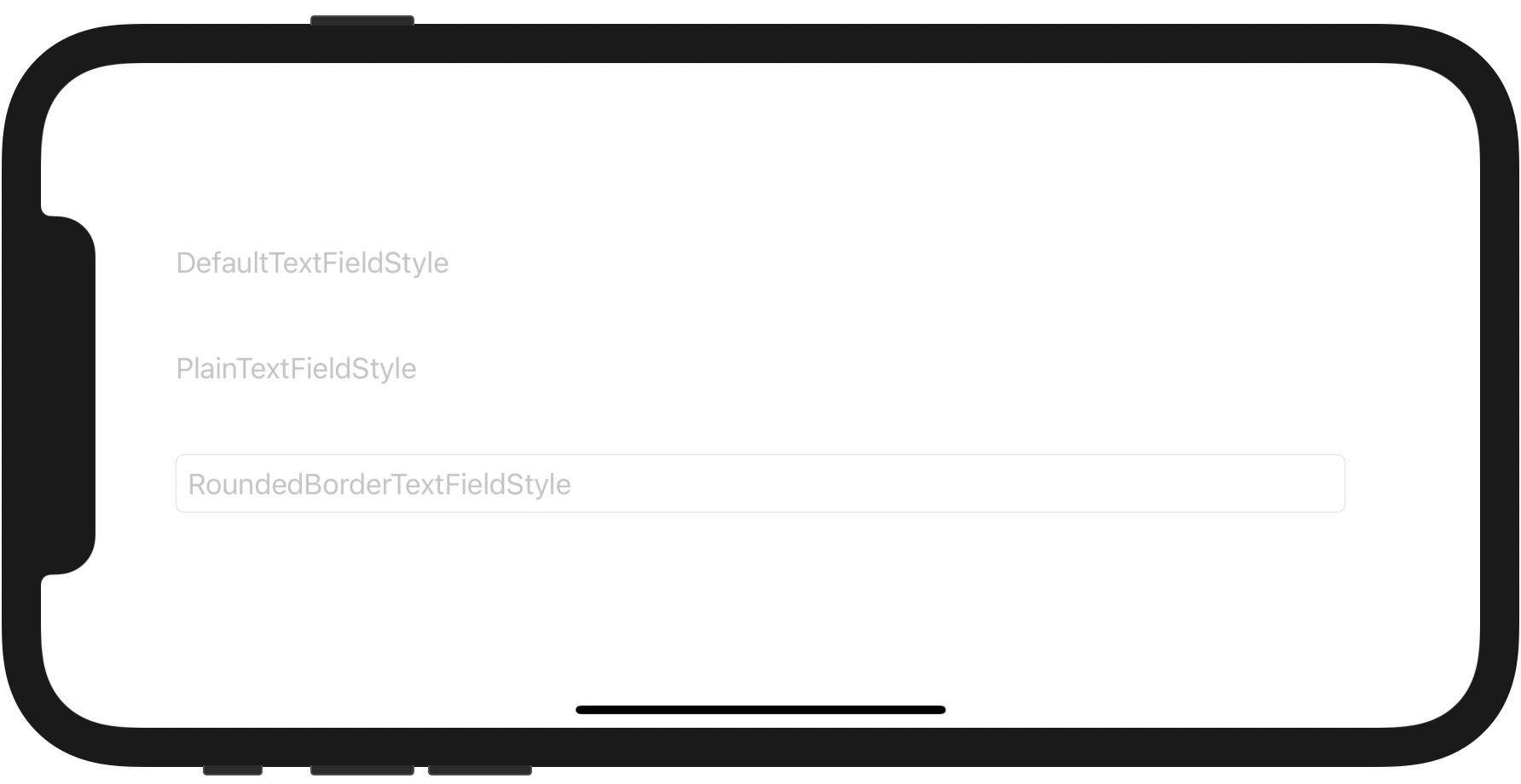 枠線を付けた TextField の例