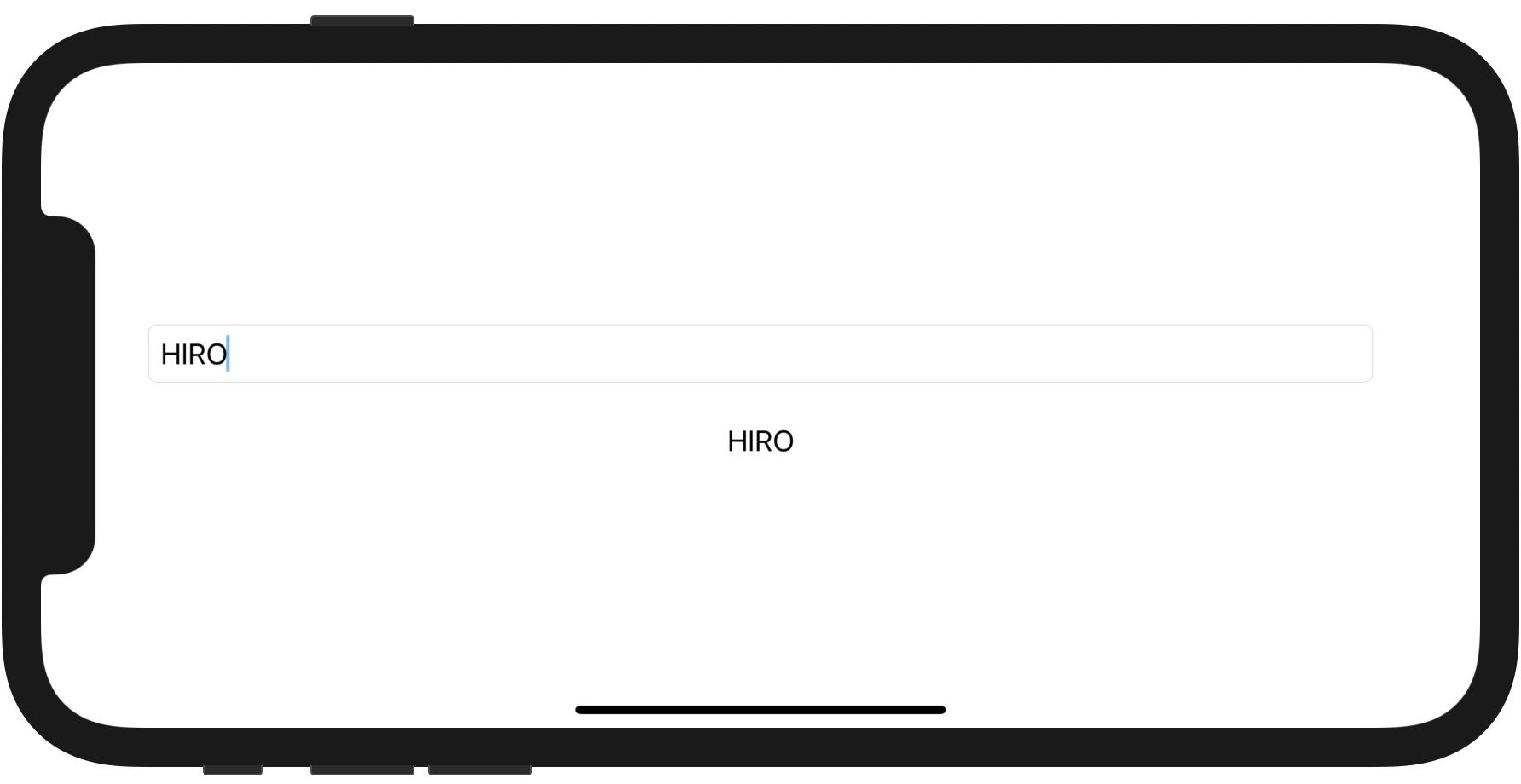 入力内容をリアルタイムに Text に反映する例